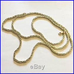 14k Byzantine Gold Chain (14ct not 9ct) 74.56g 36 inches Hallmarked