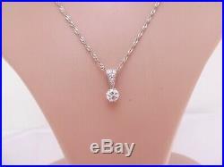 18ct gold 3/4ct diamond pendant on 9ct gold chain