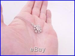 18ct gold rose cut old mine cut diamond pendant on 9ct gold chain