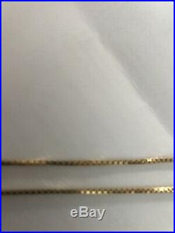 9CT GOLD 24 INCH CHAIN LOVELY CONDITION 7.3 grams