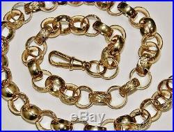 9CT GOLD ON SILVER 32 INCH HUGE MEN'S HEAVY BELCHER CHAIN 190.2g CHUNKY 18.5MM
