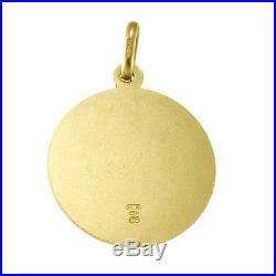 8cfa08ab264 9CT GOLD ST SAINT CHRISTOPHER PENDANT CHAIN NECKLACE WITH 18 CHAIN 18mm