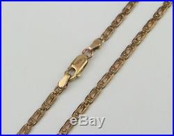 9ct 9 Carat Yellow Gold 17.5 Mariner Curb Chain Hallmarked