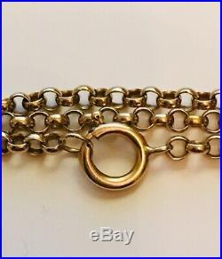 9ct GOLD BELCHER NECKLACE CHAIN 22 inch