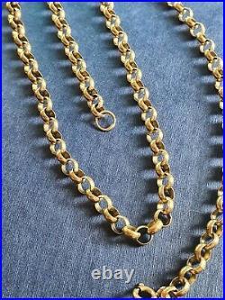 9ct Gold Belcher Chain 20.7g not scrap 22