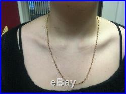 9ct Gold Belcher Chain, 62cm, 6.9 grams