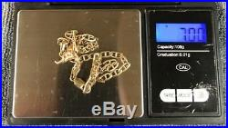 9ct Gold Chain Andelephant Pendant Fully Hallmarked Not Scrap