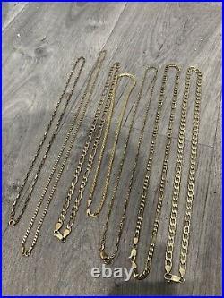 9ct Gold Chain Lot 63.2 Grams Not Scrap