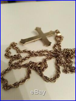9ct Gold Crussafix On Rope Chain Necklace