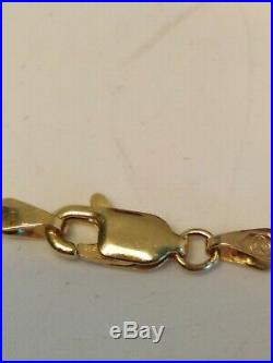 9ct Gold Georg Jenson St Christopher Pendant On Fancy Link Chain