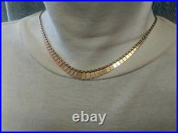 9ct Gold Ladies Cleopatra Necklace Hallmarked Great Gift 16
