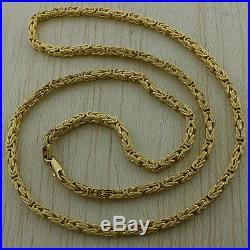 9ct Gold Square Byzantine Chain-26 25-4mm-24 9g Hallmark RRP