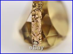 9ct Gold Vintage Pocket Watch Albert Chain Fob Citrine Antique 10.9g Cd81