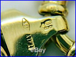 9ct Yellow Solid Gold Byzantine Style Chain 21