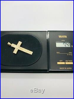 9ct Yellow Solid Gold Cross Pendant