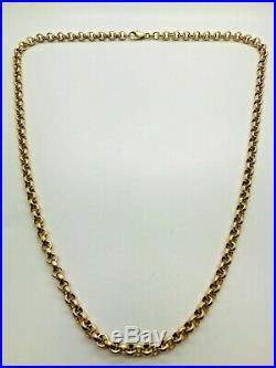 9ct Yellow Solid Gold Round Belcher Chain 24