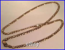 9ct gold Solid Figaro Necklace/Chain