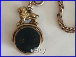 9ct gold albert watch chain t bar rose gold graduated hallmarked links 32g c1800