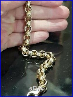 9ct gold belcher chain heavy 32.3g