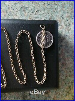 9ct gold belcher chain necklace 26.75 inches