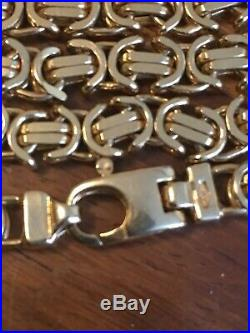 9ct gold byzantine chain 16 Childs hallmarks Excellent condition 30g not scrap