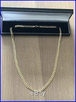 9ct gold curb chain 24
