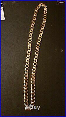 9ct gold curb chain, weigh's 22g. Length 42cm