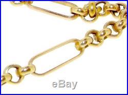 9ct gold hollow long 32 80cm belcher trombone chain
