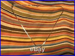 9ct gold t bar necklace
