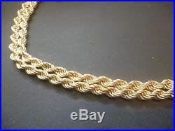 A Very Fine Heavy 9ct Gold Rope Chain 19.2g 26.5inch
