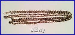 Antique 9ct Gold Muff Guard Chain Victorian/Edwardian Jewellery Belcher Links