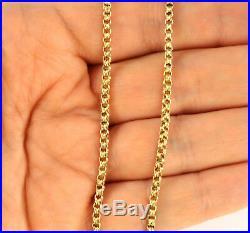Antique Edwardian 9Ct Gold Fancy Link Neck Chain / Necklace 18'