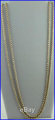 Antique Victorian 62 inch long full length 9ct gold watch guard chain 40.9 grams
