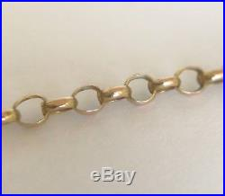 Antique Victorian 9ct Gold Barrel Clasp Belcher Necklace Chain 2.8 grams