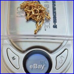 Antique Victorian Art Nouveau 9ct Gold Fancy Link Necklace Chain c1900 40.5cms