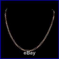 Antique Victorian Chain Necklace 9ct Rose Gold Double Bracelet Circa 1880