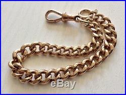 Beautiful Antique 1912 Very Heavy Solid 9CT Gold Albert Bracelet Stunning