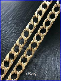Diamond Cut BOMBE Chain 375 9ct GENUINE GOLD SOLID HEAVY Necklace 20 6mm NEW