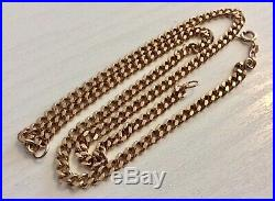 Good Gents Vintage Heavy Solid 9CT Gold Mens Curb Necklace Chain 20 inch
