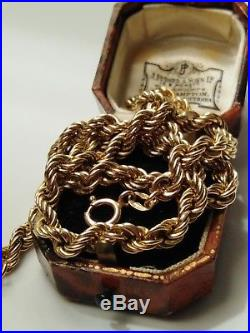 Heavy, Chunky 9ct gold rope chain/necklace