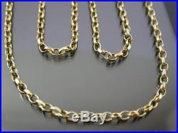 Long Vine 9ct Gold Faceted Belcher Link Necklace Chain 30 Inch 1999