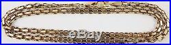 Long hallmarked 9ct gold 16.25 inch long yellow gold neck chain weighs 8.9 grams