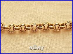 MENS GOLD 9ct Yellow Belcher chain 375 stamp UK 22 Inch 41g