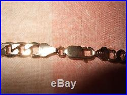 Men's 9ct Gold Curb Chain 22 33g Hallmarked Good Used Condition! Great Weight