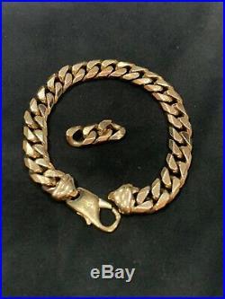 Mens 9ct Gold'Close Curb' Bracelet