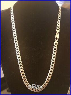 Mens 9ct Gold Curb Chain. 24 Inch. 71.7 Grams