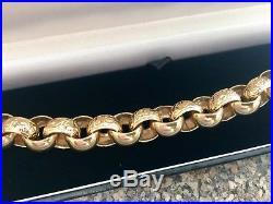 Mens 9ct gold belcher bracelet, Heavy Chain, Big Gold