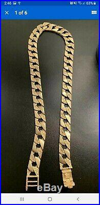 Mens solid 9ct Very Heavy gold Curb chain 123.4 Grams