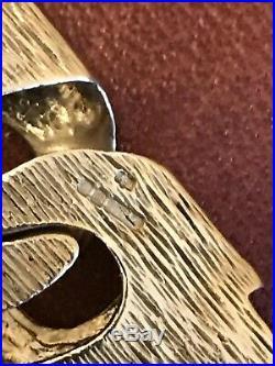 Mens solid Impressive Fancy Pattern 9ct gold curb bracelet 136.4Grams