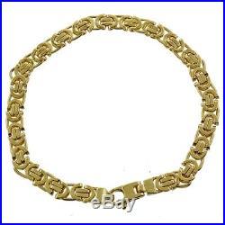 NEW Hallmarked 9ct Gold Flat Byzantine Bracelet- Mens 8 5.5MM RRP £645 (Q50)